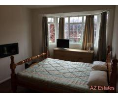 A spacious double room for rent in a two bedroom flat